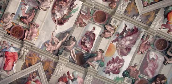 La chapelle sixtine merveille d italie culture online - Fresque du plafond de la chapelle sixtine ...