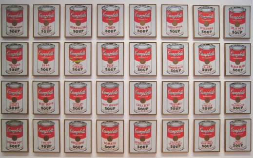 Campbell's soup cans Andy Warhol Moma